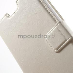 Bílé PU kožené pouzdro na Huawei Y635 - 6