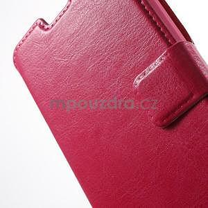 Rose PU kožené pouzdro na Huawei Y635 - 6