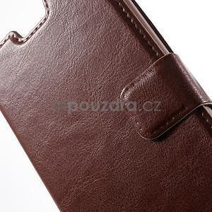Hnědé PU kožené pouzdro na Huawei Y635 - 6