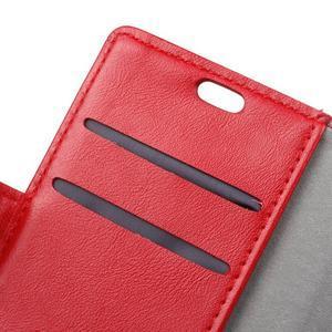 Knížkové PU kožené pouzdro na Lenovo Vibe K5 / K5 Plus - červené - 6