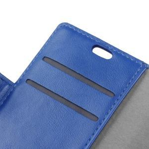 Knížkové PU kožené pouzdro na Lenovo Vibe K5 / K5 Plus - modré - 6