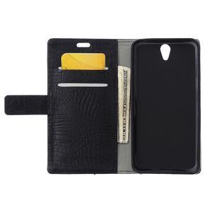 Croco PU kožené pouzdro na mobil Lenovo Vibe S1 - černé - 6