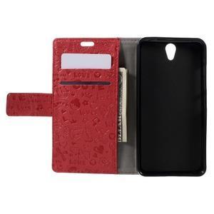 Cartoo peněženkové pouzdro na Lenovo Vibe S1 - červené - 6