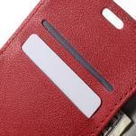 Peněženkové pouzdro na mobil Lenovo Vibe S1 - červené - 6/7
