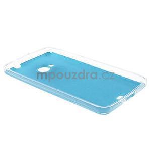 Ultra tenký kryt s jemnými koženkovými zády Microsoft Lumia 535 - modrý - 6