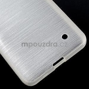 Broušený gelový obal na Microsoft Lumia 640 LTE - bílý - 6