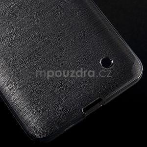 Broušený gelový obal na Microsoft Lumia 640 LTE - šedý - 6