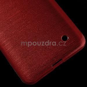 Broušený gelový obal na Microsoft Lumia 640 LTE - červený - 6