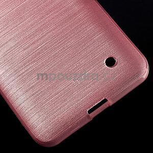 Broušený gelový obal na Microsoft Lumia 640 LTE - růžový - 6
