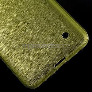Broušený gelový obal na Microsoft Lumia 640 LTE - zelený - 6