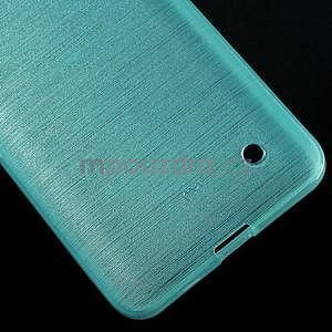 Broušený gelový obal na Microsoft Lumia 640 LTE - modrý - 6