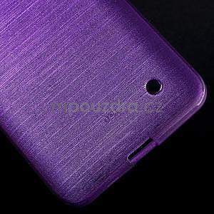 Broušený gelový obal na Microsoft Lumia 640 LTE - fialový - 6