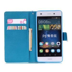 Peněženkové pouzdro Huawei Ascend P8 Lite - květinové lístky - 6