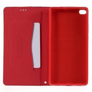 Style peněženkové pouzdro na Huawei Ascend P8 - červené - 6