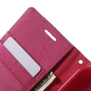 Canvas textilní/PU kožené pouzdro na Asus Zenfone 2 Laser - rose - 6