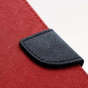 Fancy peněženkové pouzdro na Samsung Galaxy S4 - červené - 6