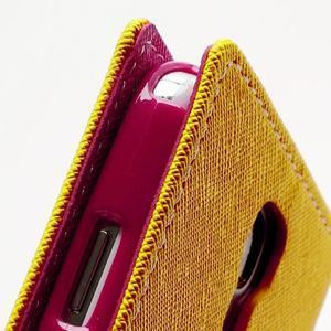 Fancy peněženkové pouzdro na Samsung Galaxy S4 - žluté - 6