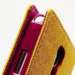 Fancy peněženkové pouzdro na Samsung Galaxy S4 - žluté - 6/7