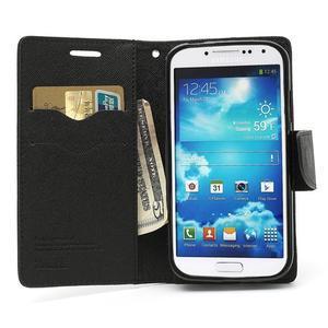 Fancy peněženkové pouzdro na Samsung Galaxy S4 -  černé - 6
