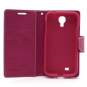 Fancy peněženkové pouzdro na Samsung Galaxy S4 -  růžové - 6