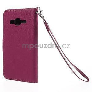 Rose/hnědé peněženkové pouzdro na Samsung Galaxy Core Prime - 6