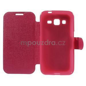Zapínací peněženkové pouzdro na Samsung Galaxy Core Prime - rose - 6