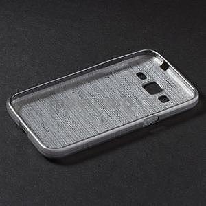 Broušený gelový kryt na Samsung Galaxy Core Prime - šedý - 6