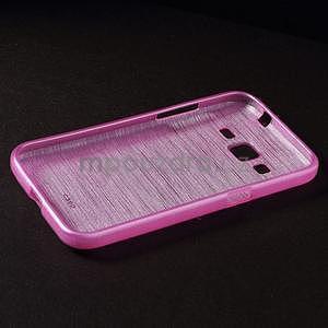 Broušený gelový kryt na Samsung Galaxy Core Prime - rose - 6