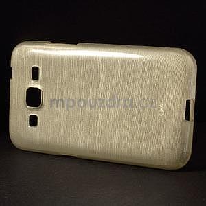 Broušený gelový kryt na Samsung Galaxy Core Prime - zlatý - 6