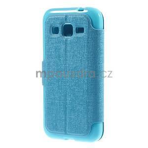 Zapínací peněženkové pouzdro na Samsung Galaxy Core Prime - tyrkysové - 6