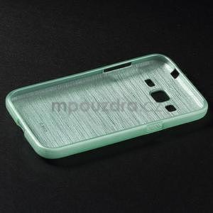Broušený gelový kryt na Samsung Galaxy Core Prime - cyan - 6