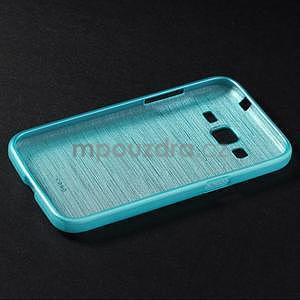 Broušený gelový kryt na Samsung Galaxy Core Prime - tyrkysový - 6