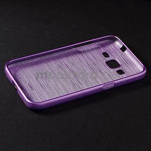 Broušený gelový kryt na Samsung Galaxy Core Prime - fialový - 6