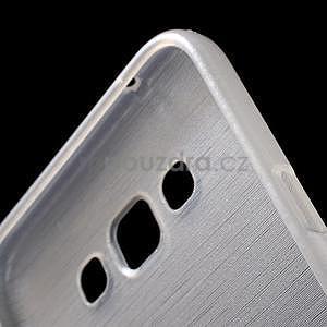 Broušený gelový obal pro Samsung Galaxy E7 - bílý - 6