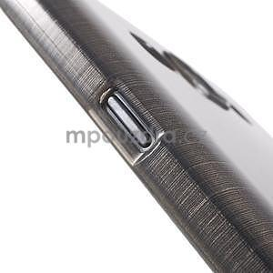 Broušený gelový obal pro Samsung Galaxy E7 - šedý - 6