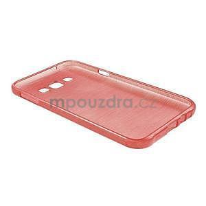 Broušený gelový obal pro Samsung Galaxy E7 - červený - 6