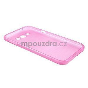 Broušený gelový obal pro Samsung Galaxy E7 - rose - 6
