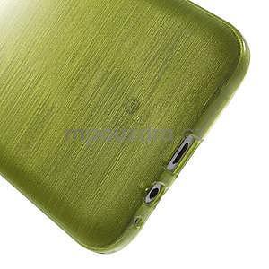 Broušený gelový obal pro Samsung Galaxy E7 - zelený - 6