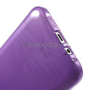 Broušený gelový obal pro Samsung Galaxy E7 - fialový - 6
