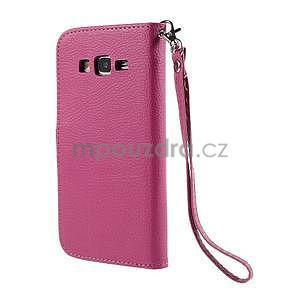 Rose/hnědé zapínací peněženkové pouzdro na Samsung Galaxy Grand Prime - 6