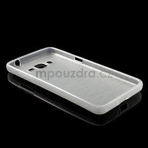 Broušený gelový obal pro Samsung Galaxy Grand Prime -  bílý - 6