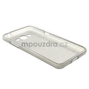 Broušený gelový obal pro Samsung Galaxy Grand Prime - šedý - 6