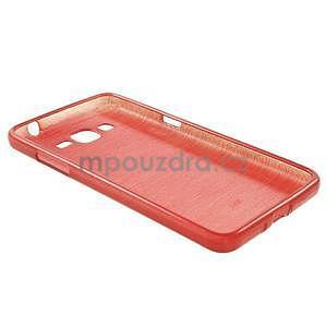 Broušený gelový obal pro Samsung Galaxy Grand Prime - červený - 6