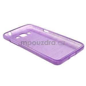 Broušený gelový obal pro Samsung Galaxy Grand Prime - fialový - 6