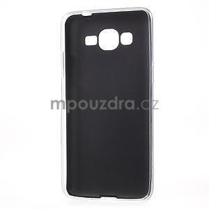 Ultratenký gelový kryt s imitací kůže na Samsung Grand Prime - černý - 6