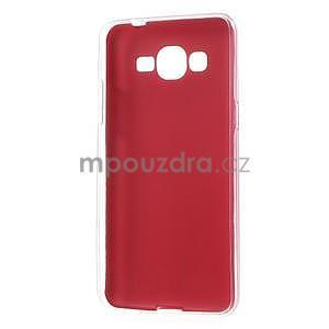 Ultratenký gelový kryt s imitací kůže na Samsung Grand Prime - červený - 6