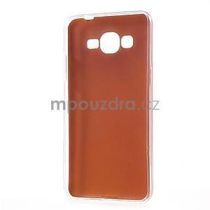 Ultratenký gelový kryt s imitací kůže na Samsung Grand Prime - oranžový - 6