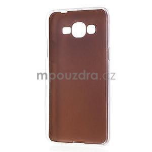 Ultratenký gelový kryt s imitací kůže na Samsung Grand Prime - zlatý - 6