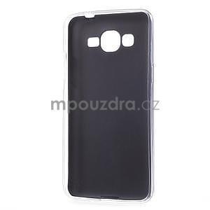 Ultratenký gelový kryt s imitací kůže na Samsung Grand Prime - tmavě modrý - 6