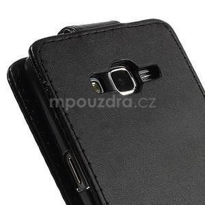 Černé flipové pouzdro na Samsung Galaxy Grand Prime - 6